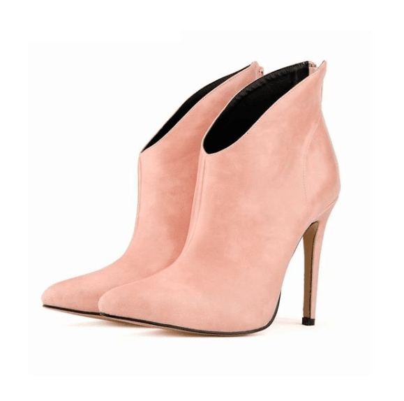 Casual High Heel Ankle Boots - Girly Got Style