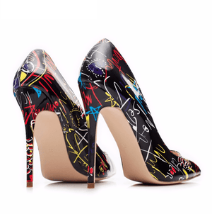 Art Design Hipster Stiletto High Heels - Girly Got Style