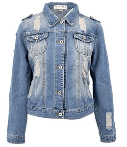 Light Washed Denim Jacket - Girly Got Style