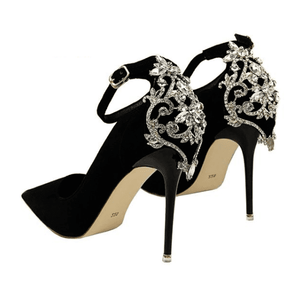 Luxury Crystal Formal Buckle Heels - Girly Got Style
