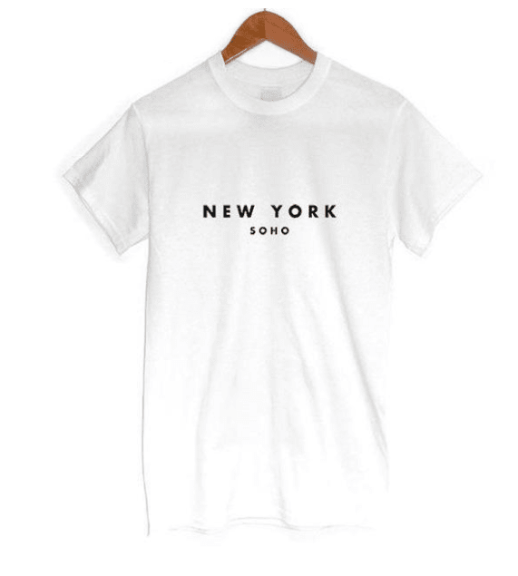NEW YORK Print T-shirt - Girly Got Style