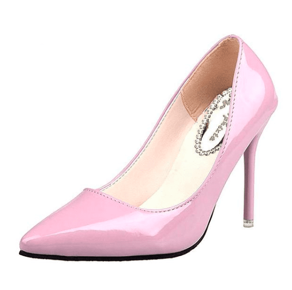 Pink Pointed Toe Thin High Heels - Girly Got Style