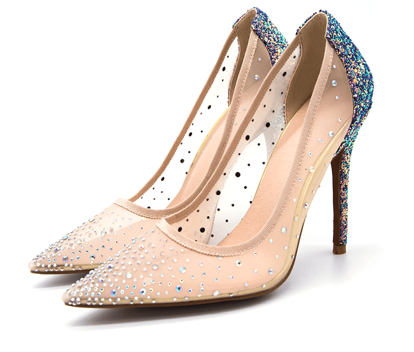 Rhinestones Cinderella Pointed Heels - Girly Got Style