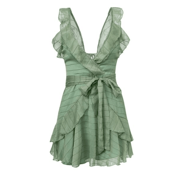 Ruffled Summer Chiffon Casual Dress - Girly Got Style