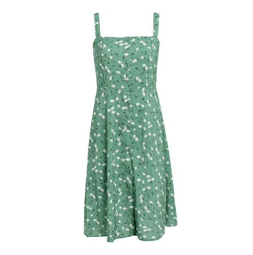 Vintage High Waist Floral Dress - Girly Got Style