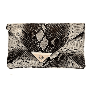 Snake Skin Envelope Clutch - Girly Got Style
