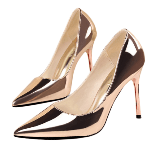 Gold Stiletto Heels - Girly Got Style