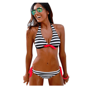 Stripe Two Piece Bikini - Girly Got Style