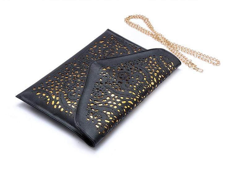 Vintage Hollow Out Envelope Clutch Bag - Girly Got Style