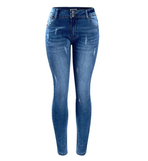 Fading Stretch Skinny Denim Jeans - Girly Got Style
