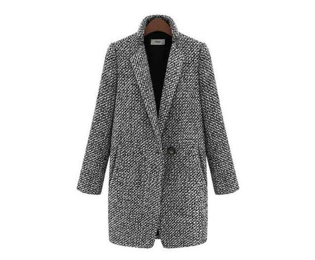 Long Single Breasted Slim Wool Coat - Girly Got Style