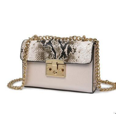 Snakeskin Pattern Shoulder Bag - Girly Got Style