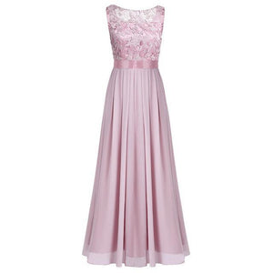 Formal Lace Bridesmaid Gown - Girly Got Style