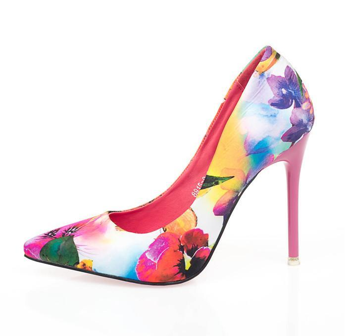 Floral Art Stylish High Heels - Girly Got Style