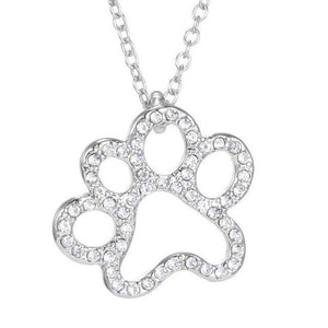Paw Print Necklace - Girly Got Style