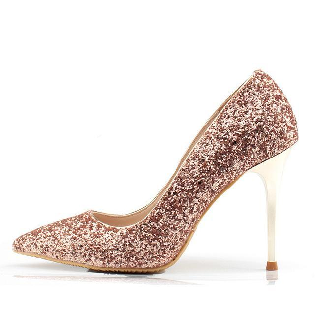 Sparkly Glitter High Heels - Girly Got Style