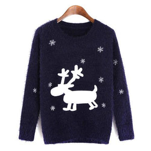 Xmas Snowflake Reindeer Jumper - Girly Got Style