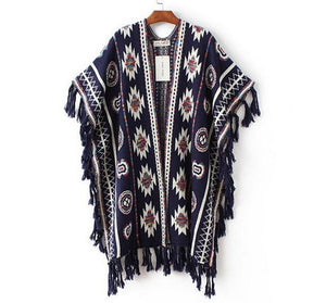 Knitted Poncho - Girly Got Style