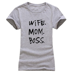 WIFE. MOM. BOSS.  Casual Tee - Girly Got Style