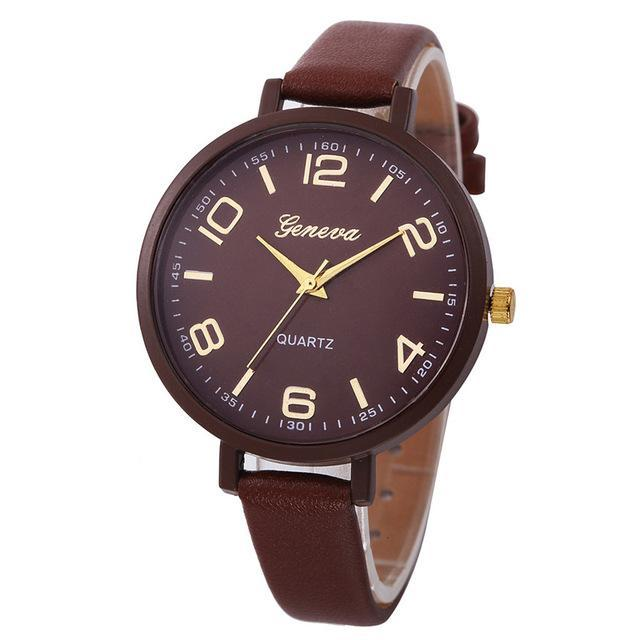 Quartz Analog Leather Wrist Watch - Girly Got Style