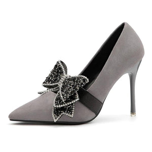 Butterfly Knot Formal Heels - Girly Got Style