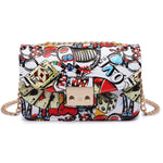 Cartoon Graffiti Clutch Bag - Girly Got Style