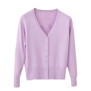 Thin Long Sleeve Knitted Cardigan - Girly Got Style
