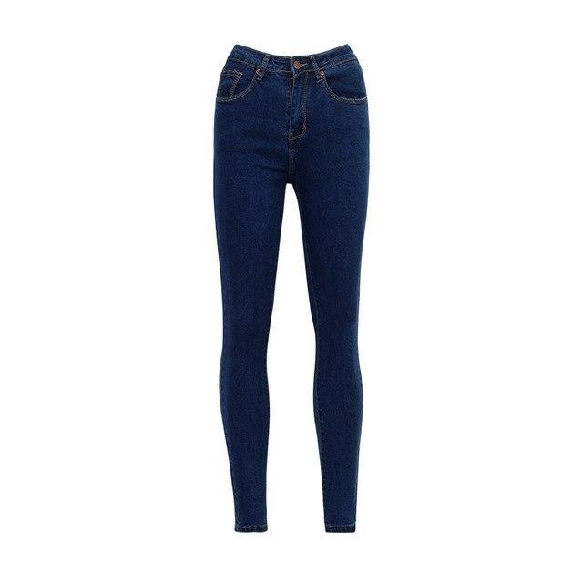 Classic Vintage High Waist Skinny Jeans - Girly Got Style