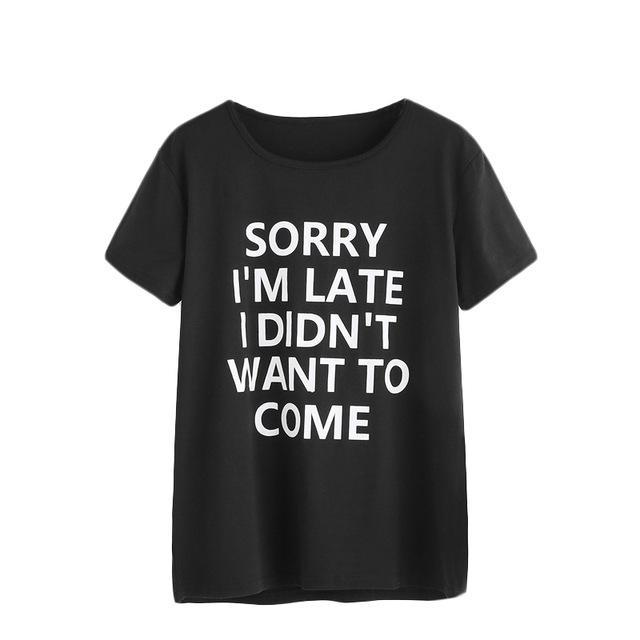 Sorry I'm Late Tee - Girly Got Style