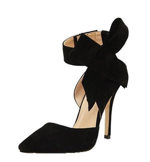 Butterfly Knot Pointed High Heels - Girly Got Style