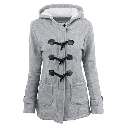 Warm Long Sleeve Hooded Jacket - Girly Got Style