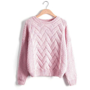 Sweater Pullover Plaid Knit - Girly Got Style