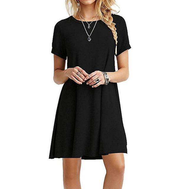 Casual Round Neck Short Sleeve - Girly Got Style