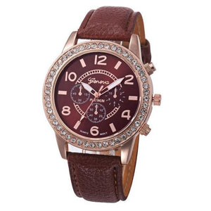 Leather Band Quartz Watch - Girly Got Style