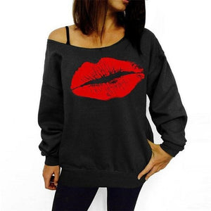 Off The Shoulder Kiss Sweater - Girly Got Style