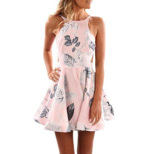 Floral Pleated Short Dress - Girly Got Style