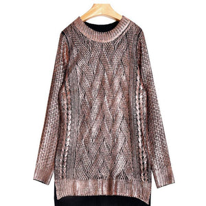 Loose Round Long Sweater - Girly Got Style