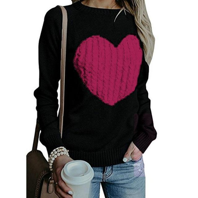 Heart Shape Casual Sweater - Girly Got Style