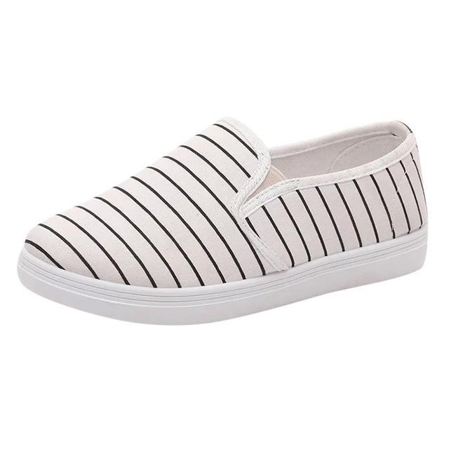Casual Stripe Slip On Shoes - Girly Got Style