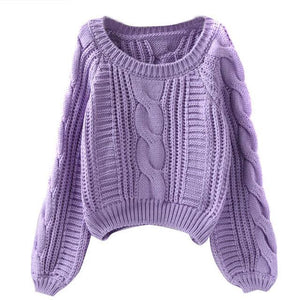 Knitted Sweater Crop Top - Girly Got Style