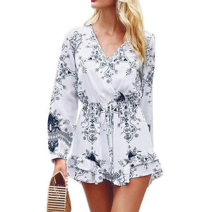 Long Sleeve Mini Summer Dress - Girly Got Style