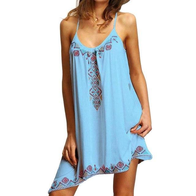 Spaghetti Strap Tank Vest Mini Dress - Girly Got Style