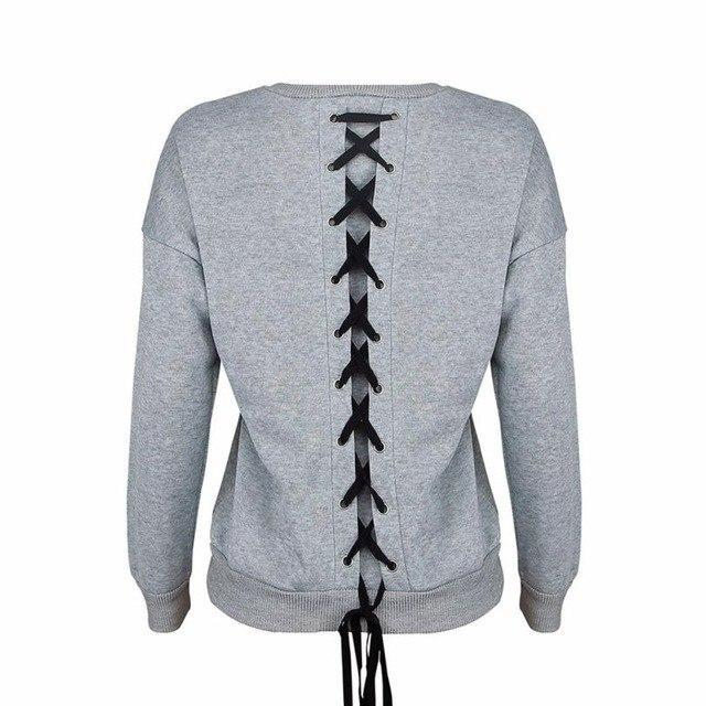 Criss Cross Back Pullover Sweater - Girly Got Style