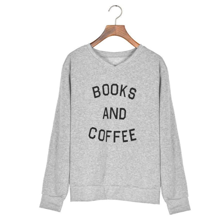 Books And Coffee Sweater - Girly Got Style