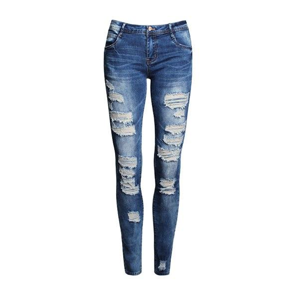 Distressed Slim Stretch Jeans - Girly Got Style