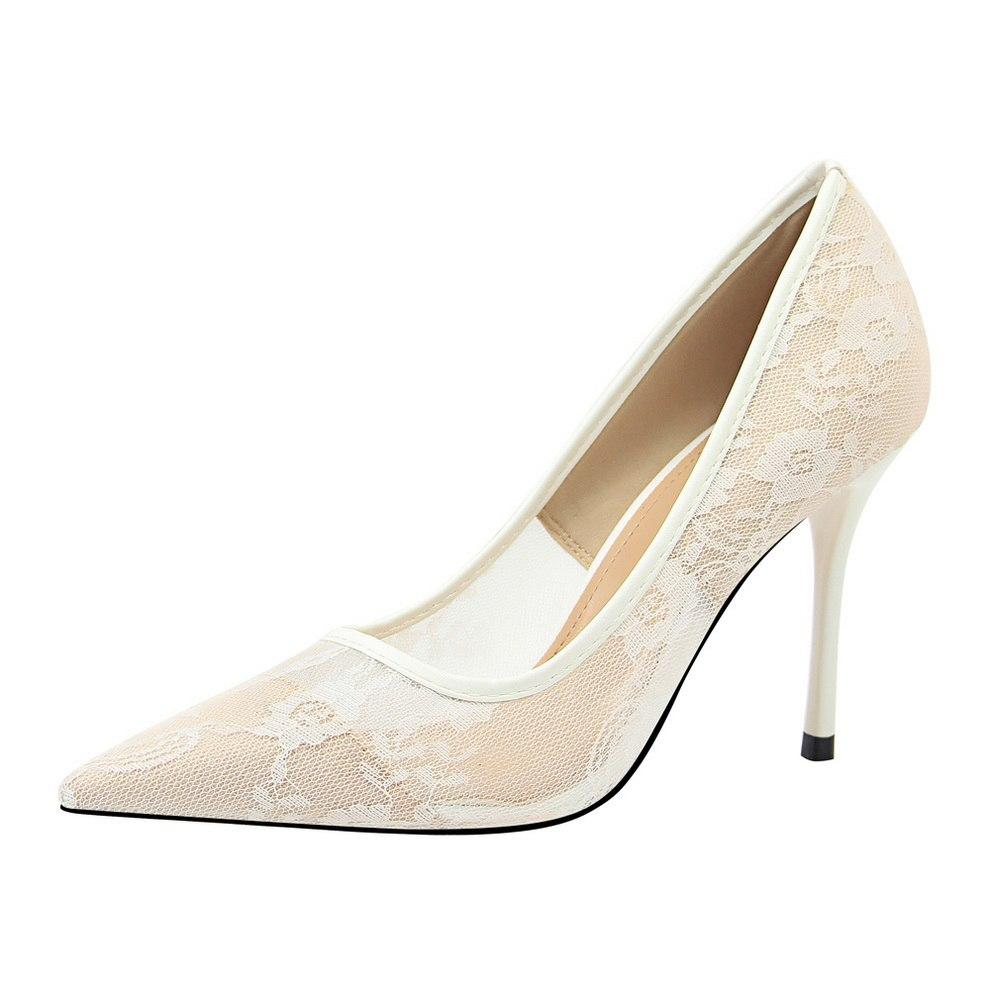 Mesh Formal Pointed Toe Heels - Girly Got Style