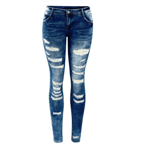 Low Rise Skinny Washed Ripped Denim - Girly Got Style