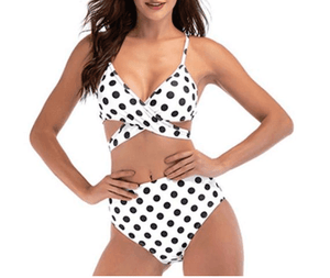 High Waist Polka Dot Swimwear - Girly Got Style