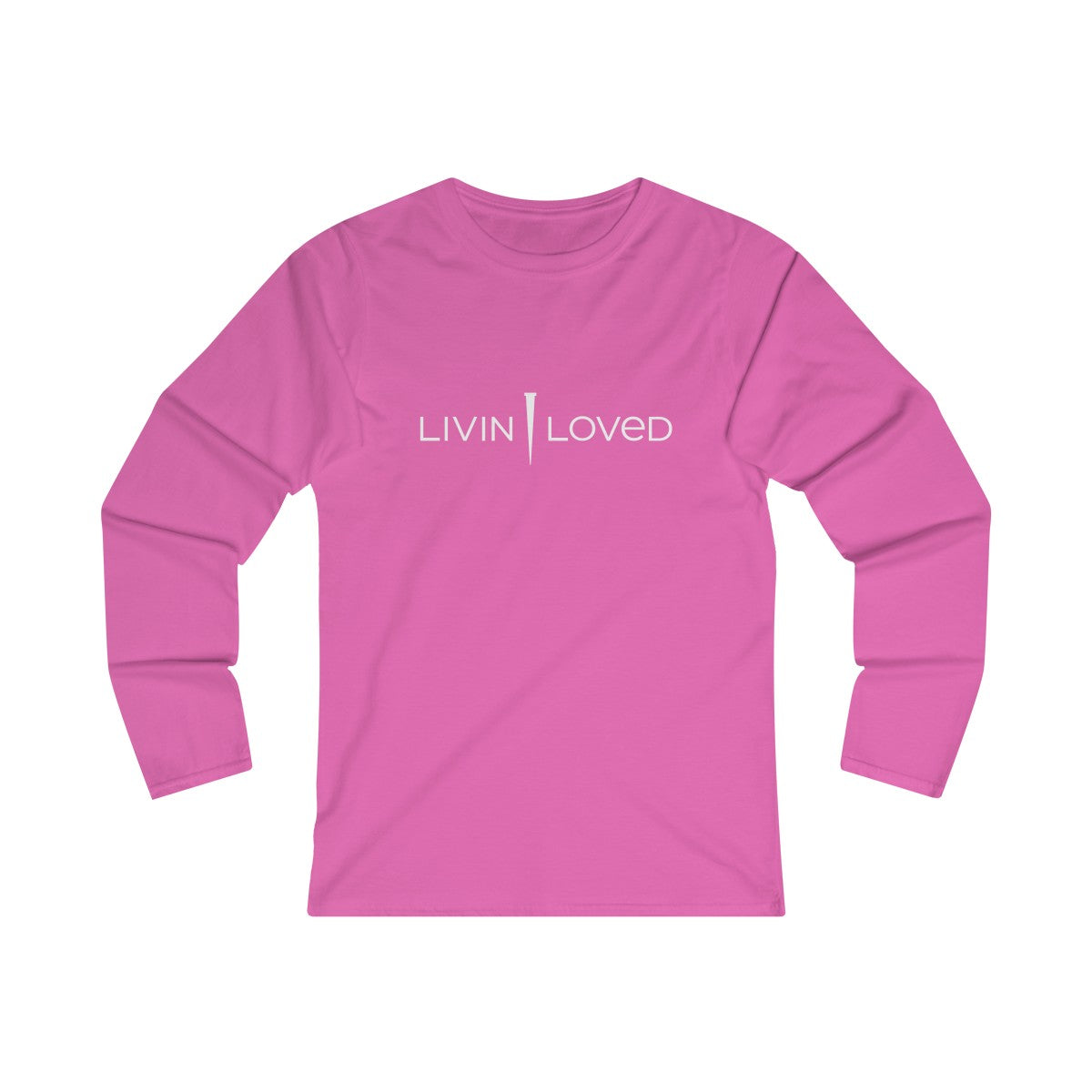 Livin Loved Logo Women's Fitted Long Sleeve Tee