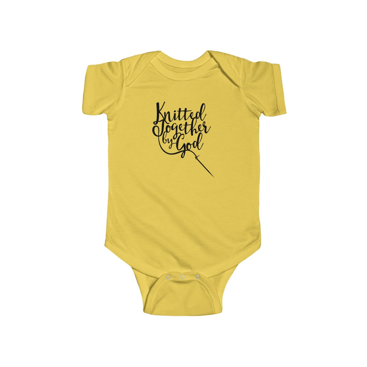 Knitted Together By God Infant Fine Jersey Bodysuit